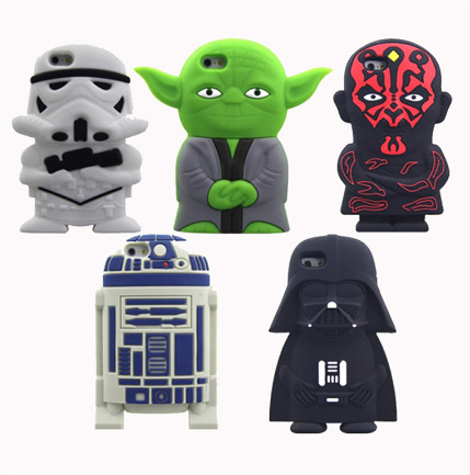 Silicon Star Wars Case for iPhone 4/4s/5/5s/5c/6/6s/6+